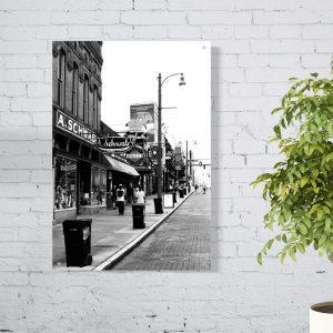 Beale Street aluminium poster