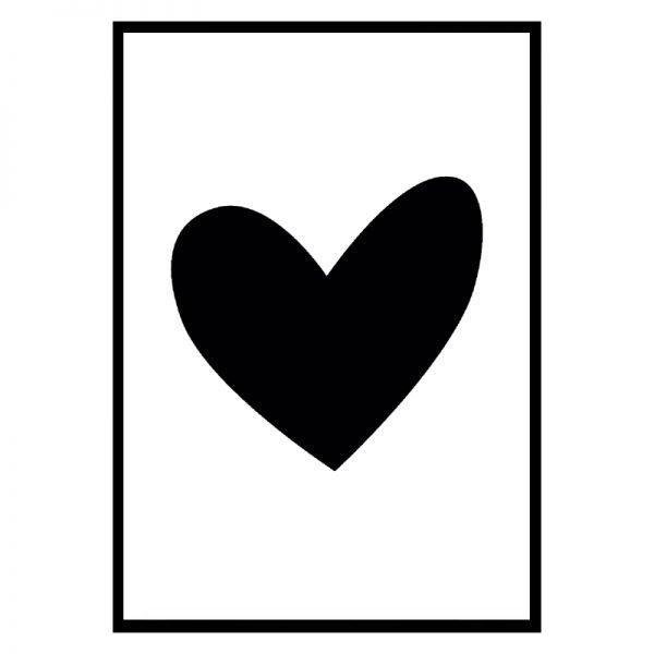 Black Heart Punt Posters Voor Ieder Interieur