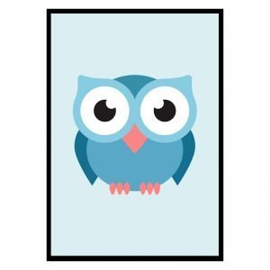Blue Owl kinderposter