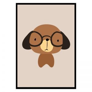 Brown Dog kinderposter