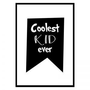 Coolest Kid kinderposter