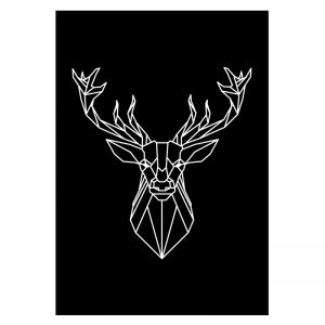 Deer Lines aluminium poster