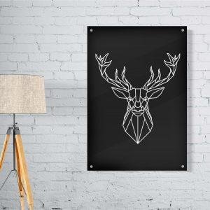Deer Lines plexiglas poster