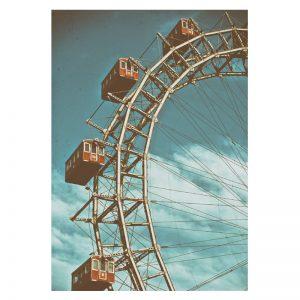 Ferris Wheel aluminium poster