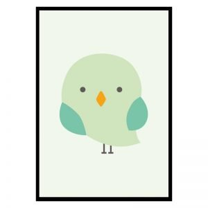 Green Bird kinderposter