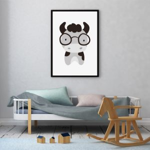 Grey Cow kinderposter