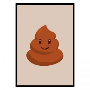 Happy Poop kinderposter