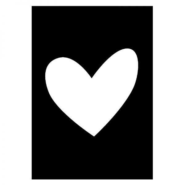 Heart Black Punt