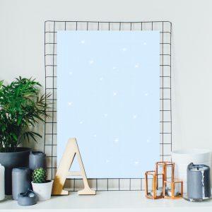 Pastel Blue Stars poster