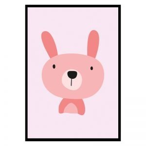 Pink Bunny kinderposter