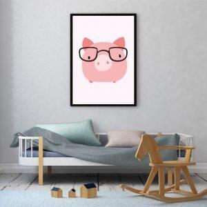 Pink Pig kinderposter