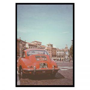 Red Porsche poster