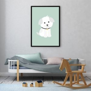 White Dog kinderposter
