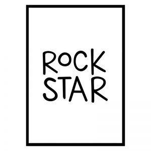 Rockstar kinderposter
