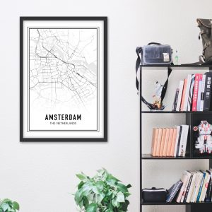 Amsterdam city maps poster