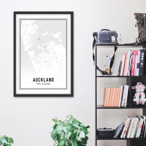 Auckland city maps poster