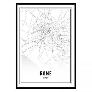 Rome city maps poster