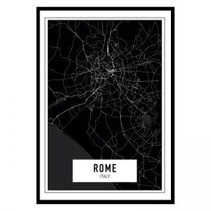 Rome Dark city maps poster
