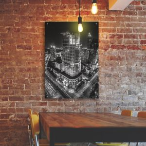 Big City aluminium poster