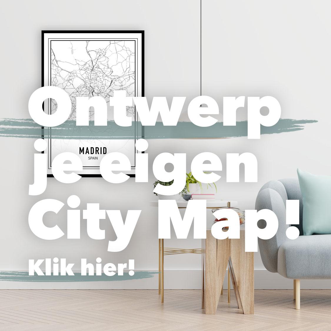 Ontwerp je eigen City Map Stadsposter
