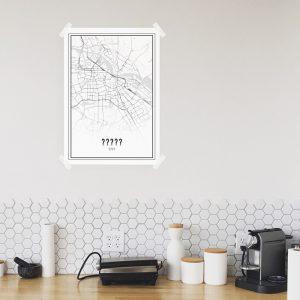 Je eigen stad of dorp poster