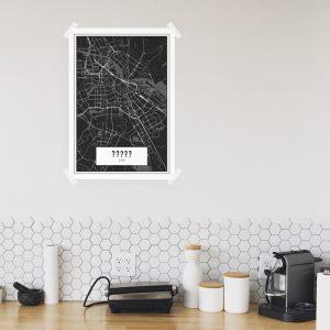 Je eigen stad of dorp dark poster