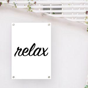 Relax tuinposter