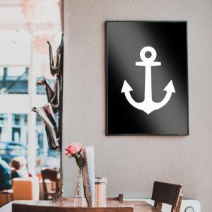 Anchor Black poster