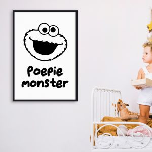 Poepiemonster kinderposter