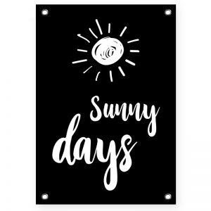 Sunny Days Black tuinposter