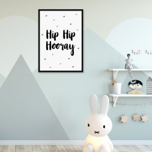 Hip Hip Hooray kinderposter