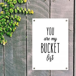 Bucket List tuinposter