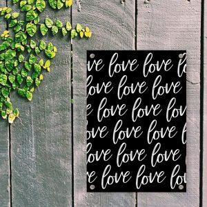 LoveLoveLove Black tuinposter