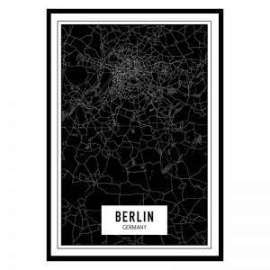 Berlijn Dark city maps poster