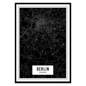 Berlijn Dark city maps poster