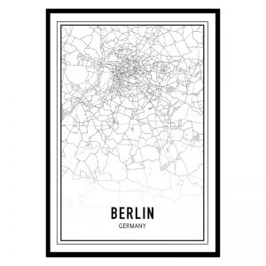 Berlijn city maps poster