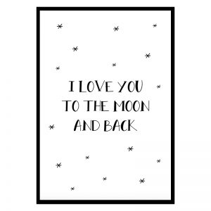 I Love You to the Moon and Back kinderposter