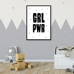 GRL PWR kinderposter