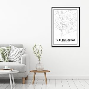 Den Bosch city maps poster