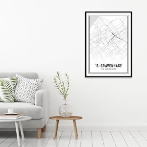 Den Haag city maps poster
