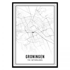 Groningen city maps poster