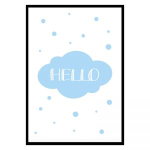 Hello Blue kinderposter