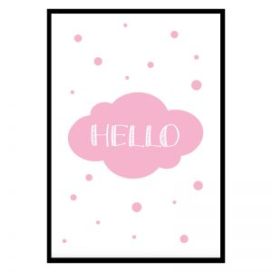 Hello Pink kinderposter