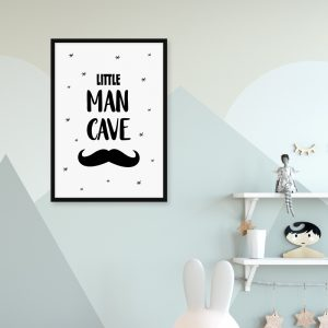 Little Man Cave kinderposter