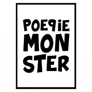 Poepiemonster Tekst kinderposter
