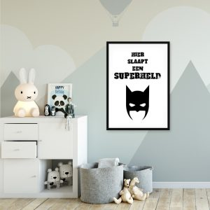 Superheld kinderposter