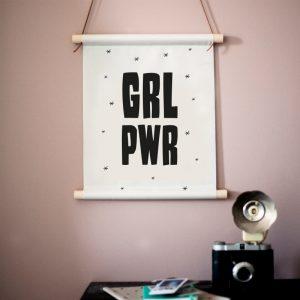 GRL PWR textielposter
