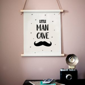Little Man Cave textielposter