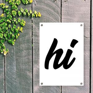 Hi tuinposter