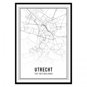 Utrecht city maps poster